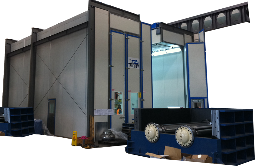 TruFlow » Crane Entry Spray Booths | Overhead Crane