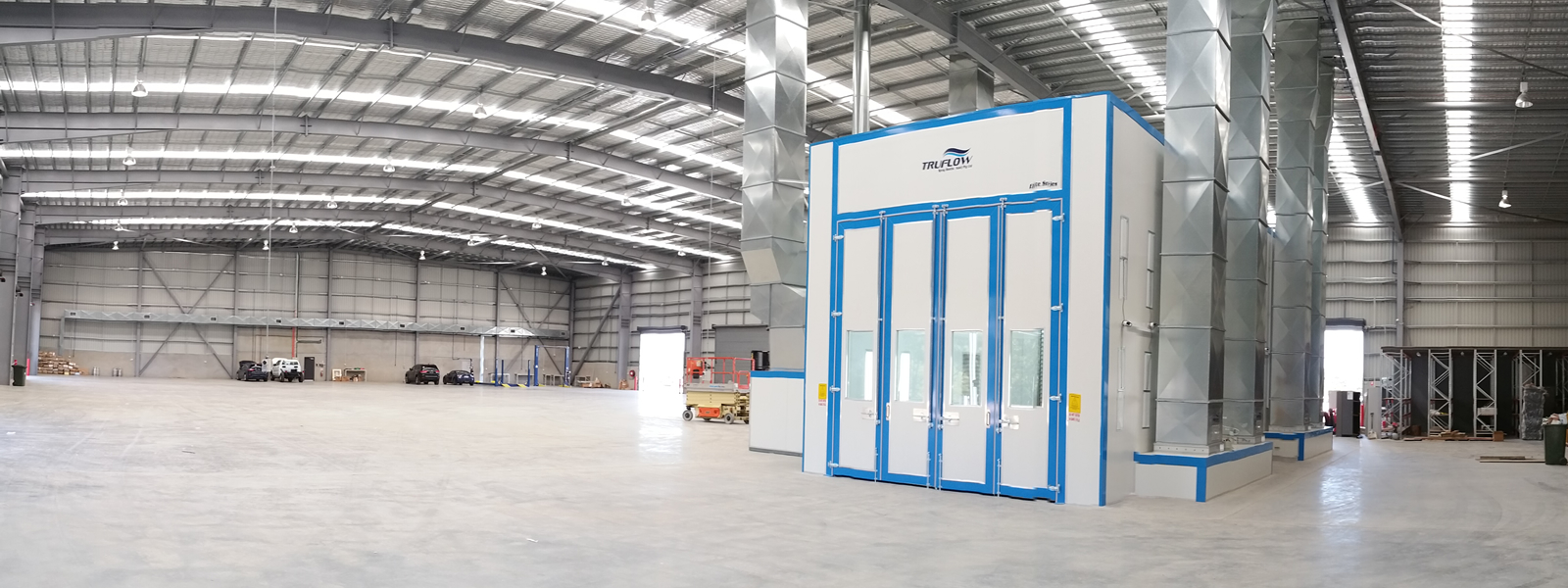 Large Scale Heated Spray Booth