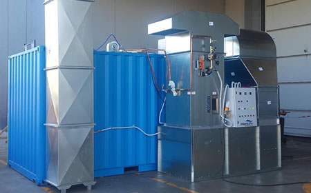 Portable Paint Booth >> TruFlow » Portable Spray Booth | Spray Cube | TRUFLOW Shipping Container Spraybooth