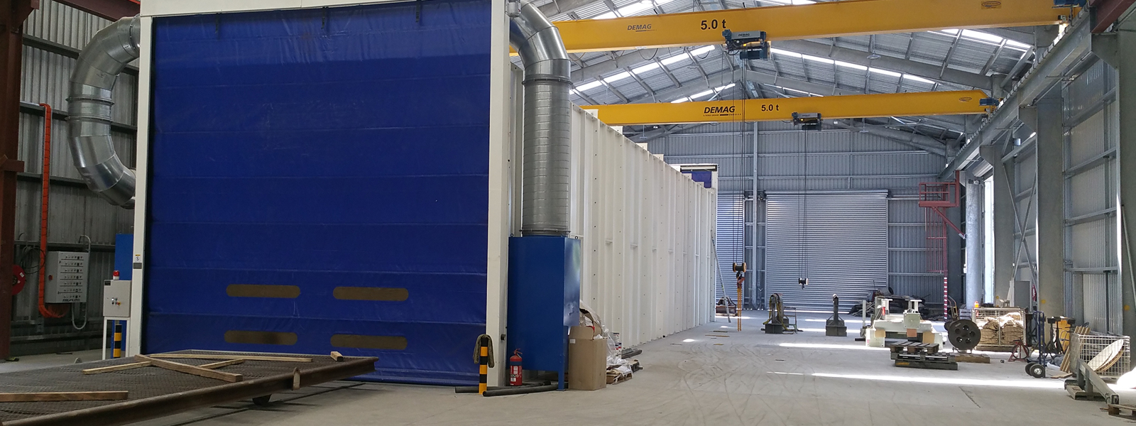 Blasting Facility Enclosed Booth