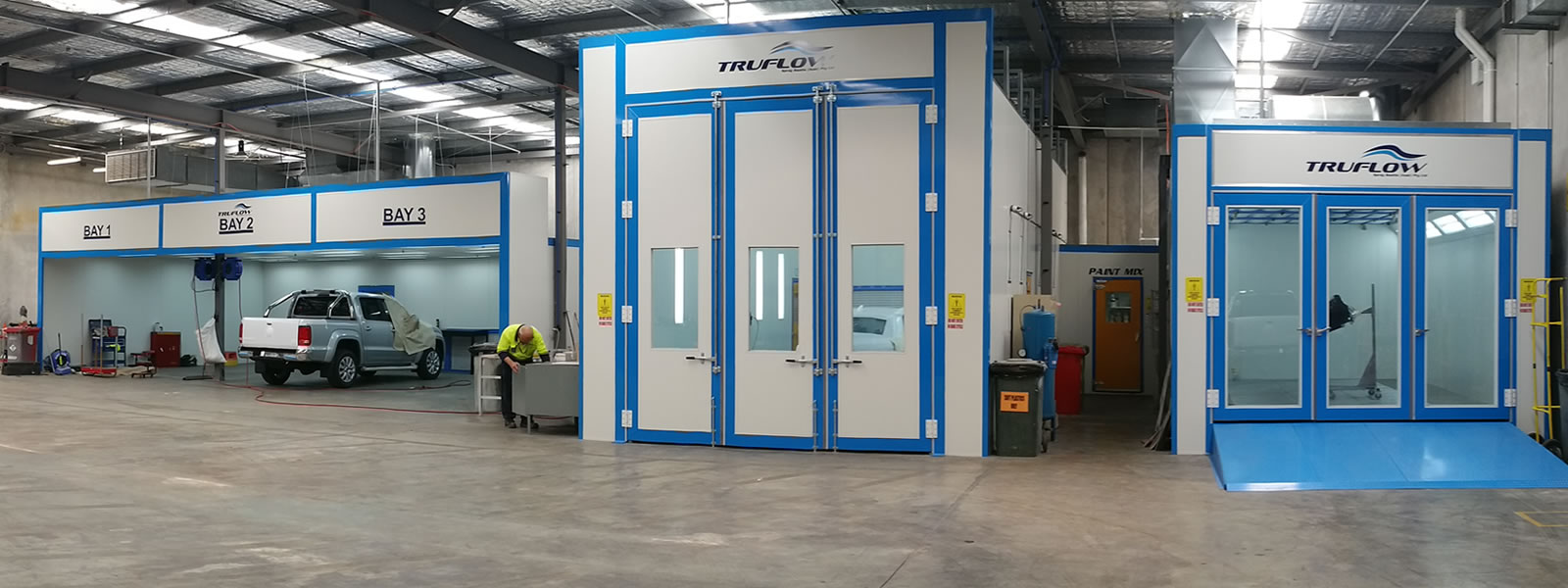 Complete Workshop fitout with prep bays and spraybooths