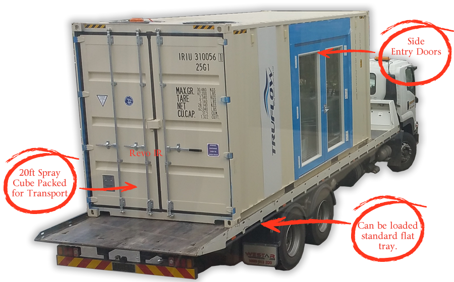 Portable Paint Booth >> Truflow Portable Spray Booth Spray Cube Truflow Shipping