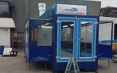 portable Spray Booth by TRUFLOW Spraybooths