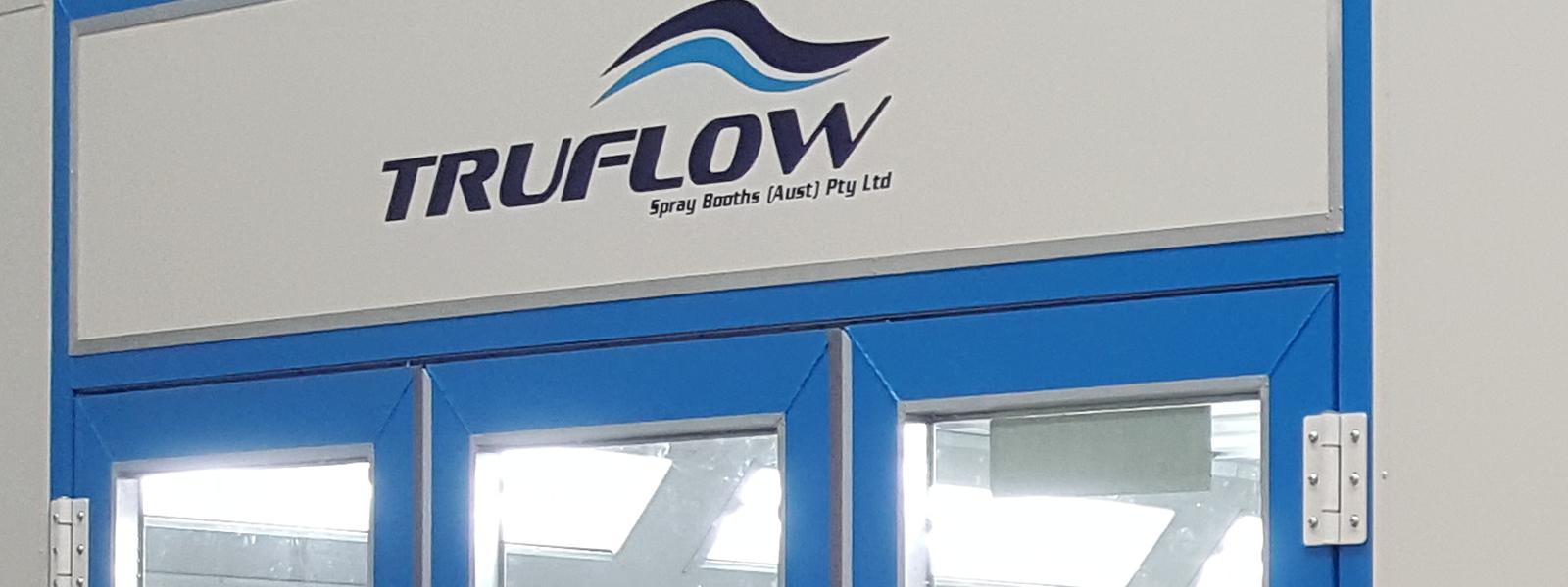 Truflow Spray Booths facia panel